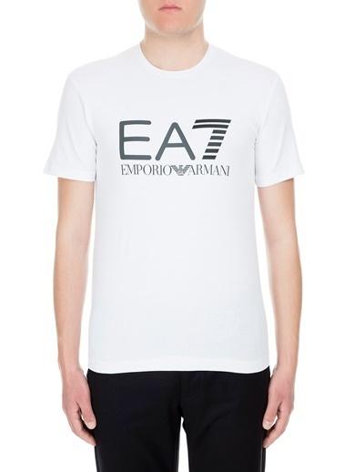 EA7 Emporio Armani  T Shirt Erkek T Shırt 3Gpt01 Pj03Z 1100 Beyaz